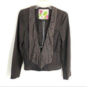 Free people asymmetrical lace ruffle blazer